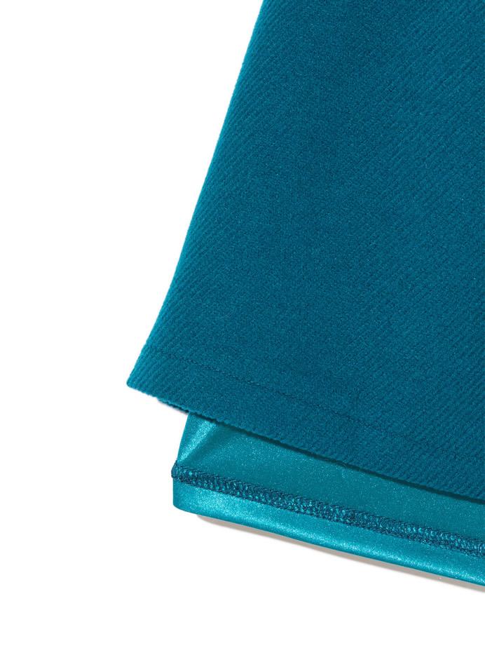ミックスカラーファーポケット台形スカート