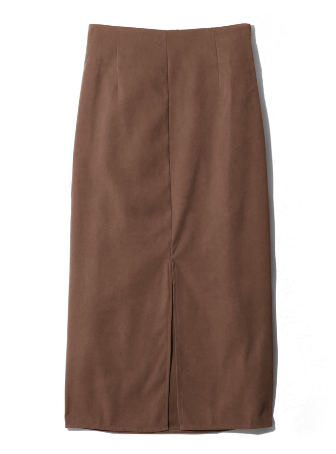 フロントスリットロングタイトスカート