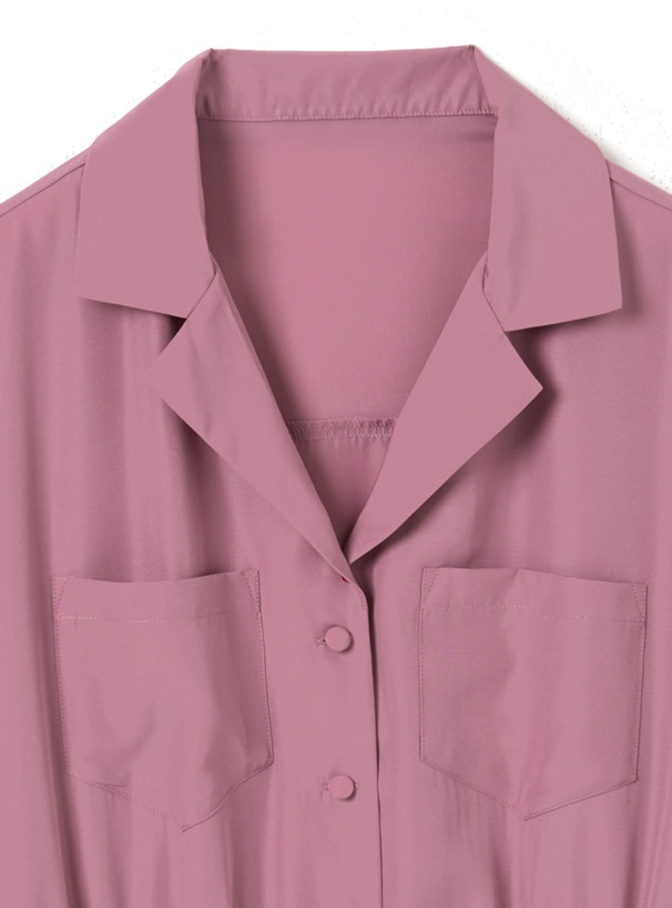 テーラードカラーショートシャツ