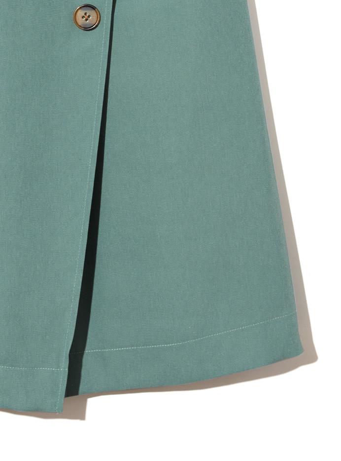 ベルト付きラップデザインボタンスカート