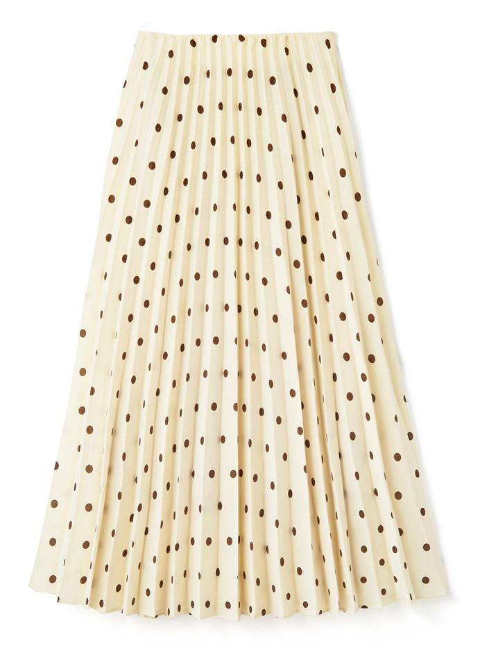 ドットプリーツスカート