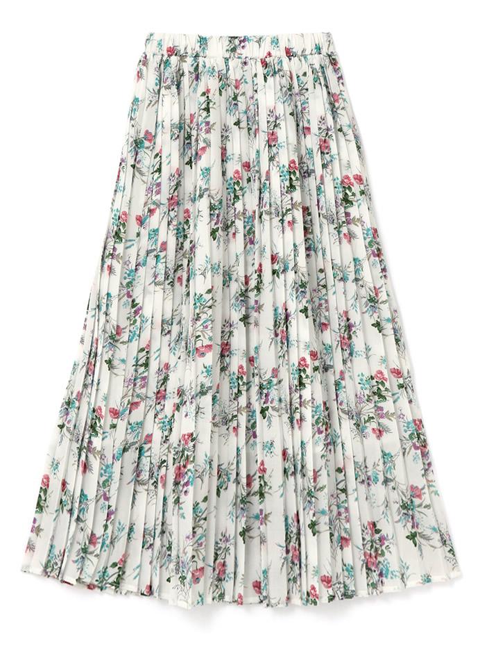 フラワープリーツスカート