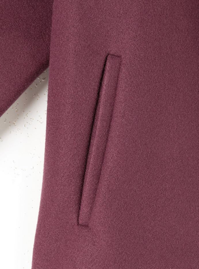 ベルト付きエコメルトンビックシルエットシャツジャケット