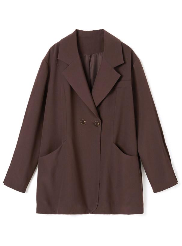 プリーツスカート×ベルト付きジャケットセットアップ