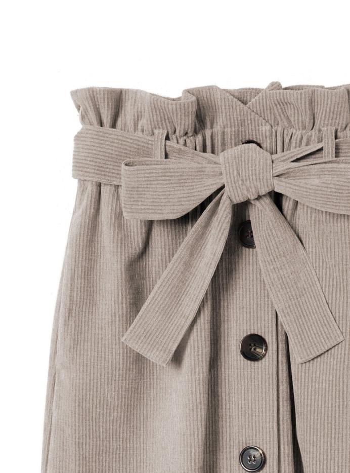 ベルト付コーデュロイボタンスカート