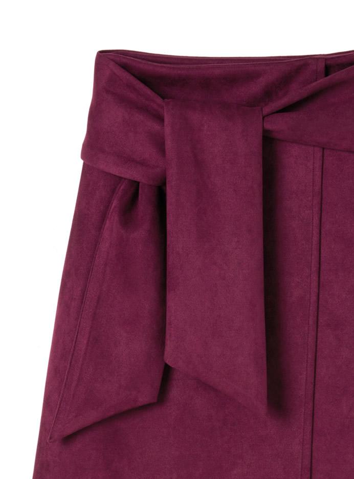 ウエストリボンスエードスカート