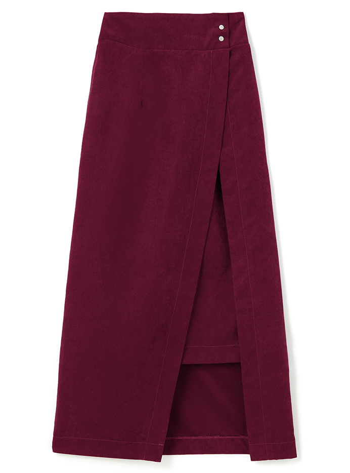ラップデザインタイトスカート