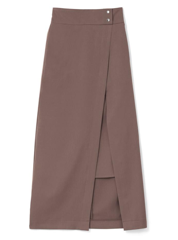 ラップ風スリットタイトスカート