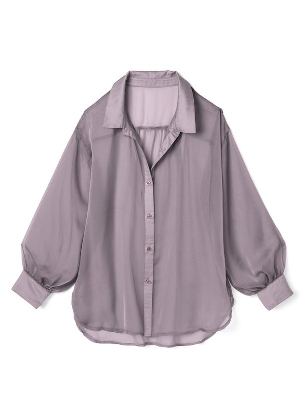 キャミソール付きシースルールーズシャツ