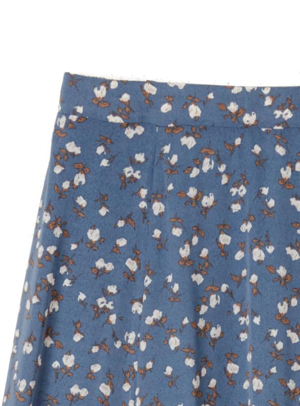 花柄フレアロングスカート