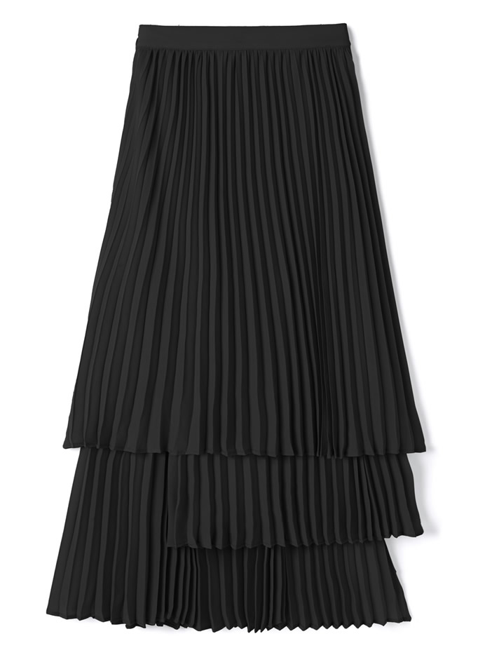レイヤープリーツスカート