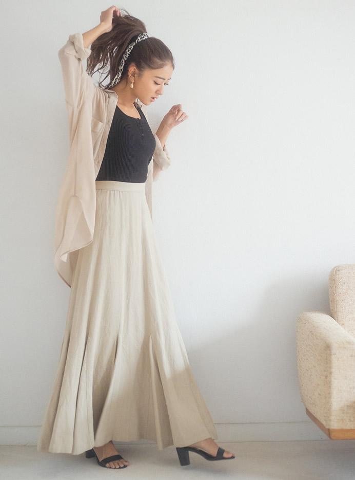 マキシフレアスカート