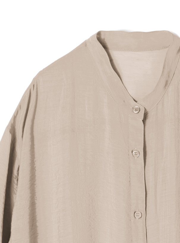 バンドカラーシアールーズシャツ