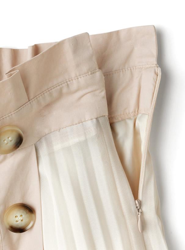 プリーツトレンチスカート