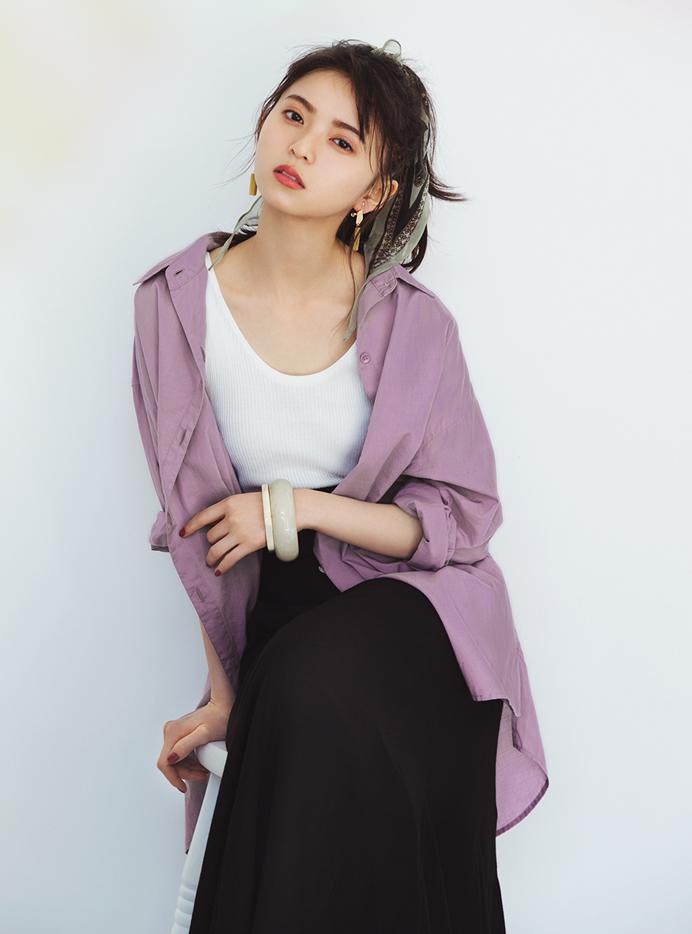 齋藤飛鳥(乃木坂46)コットンロングシャツ