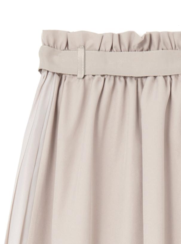 ベルト付きサイドプリーツスカート