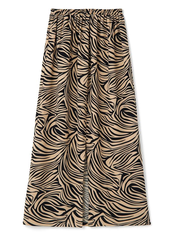 ゼブラプリントマキシスカート