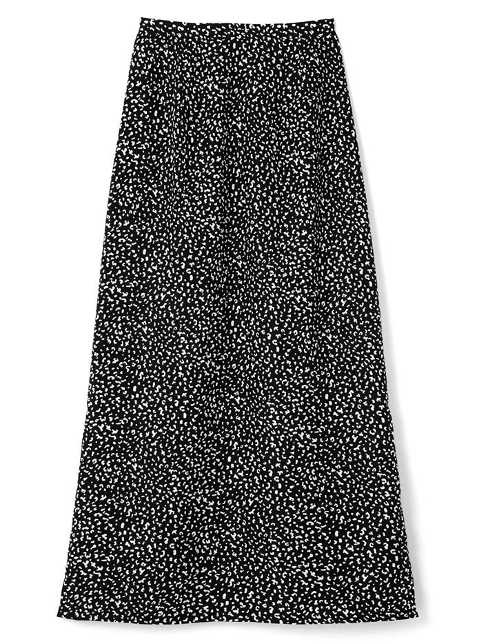 レオパード柄ストレートスカート