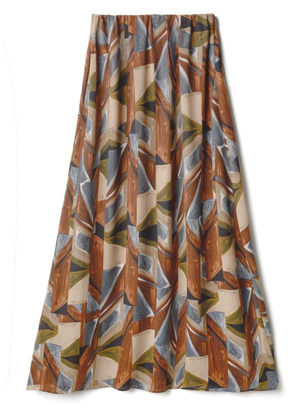 総柄ロングスカート