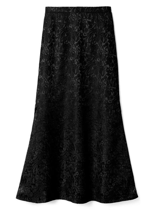 ジャガードフレアスカート
