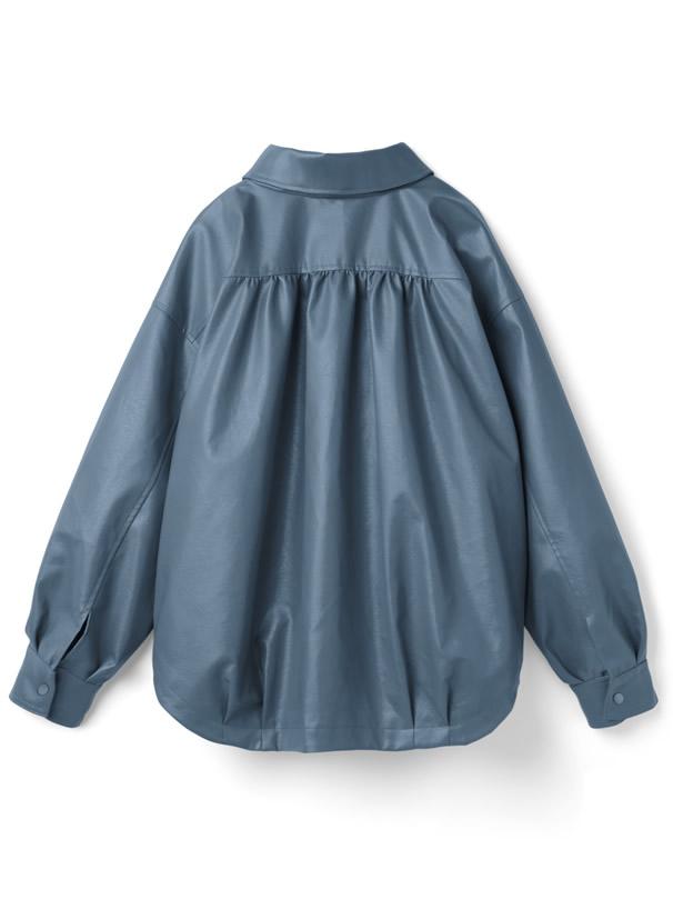 レザーシャツジャケット