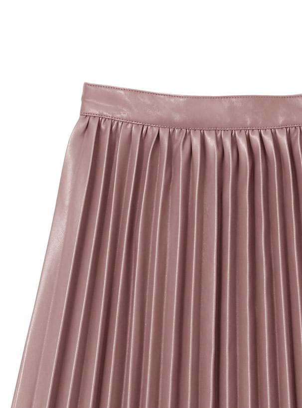 レザープリーツスカート