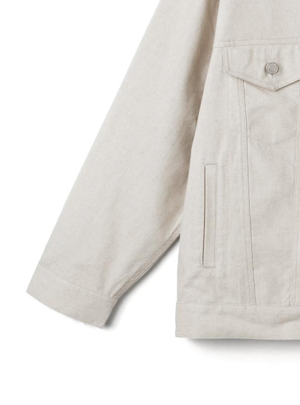 綿麻混オーバージャケット
