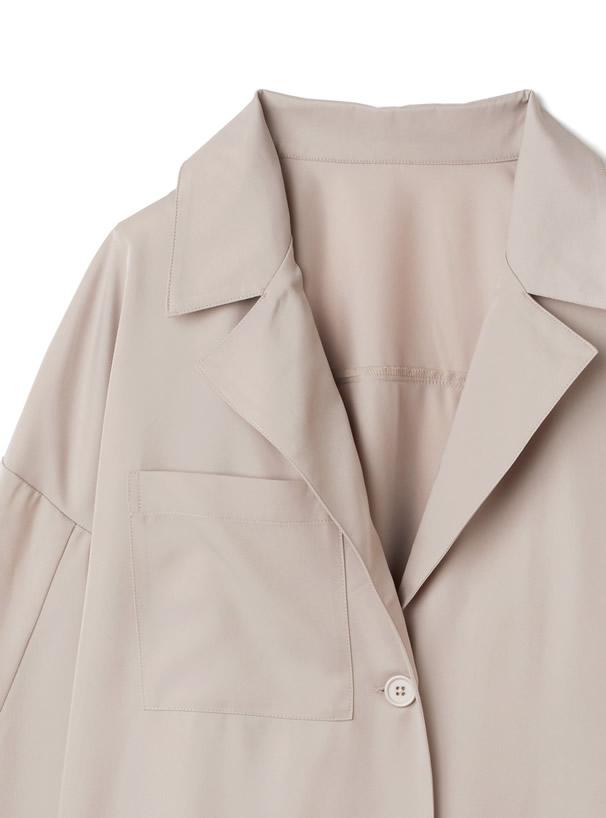 リボンベルト付きシャツジャケットXパンツセットアップ