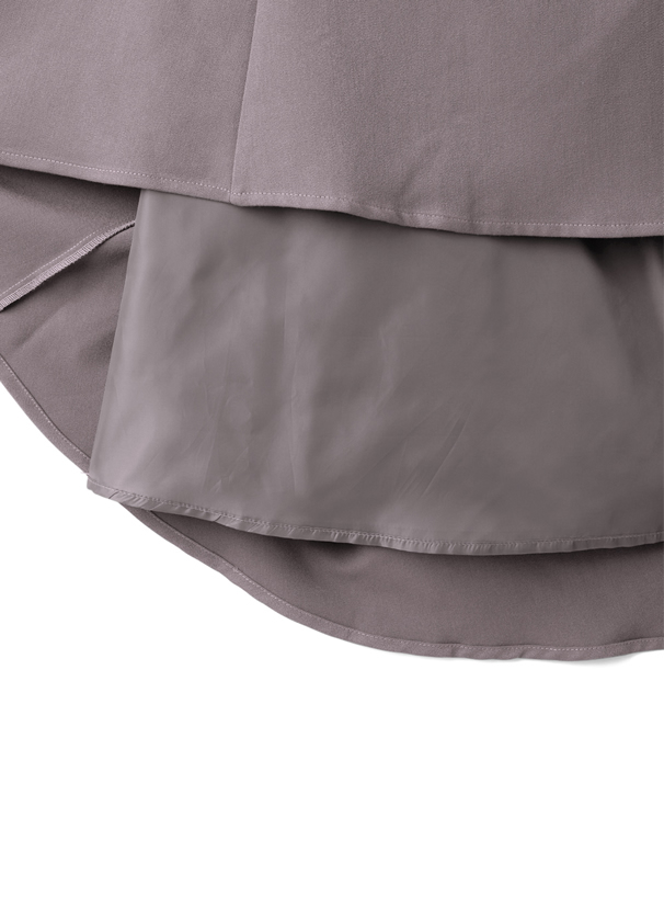 ベルト付きハイウエストフレアジャンパースカート
