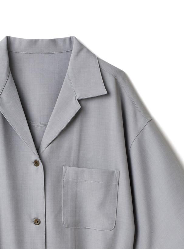 リボンベルト付きサイドスリットジャケットXタックパンツセットアップ