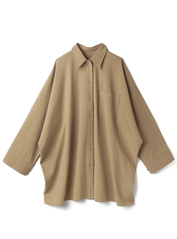 袖2Wayオーバーサイズシャツ