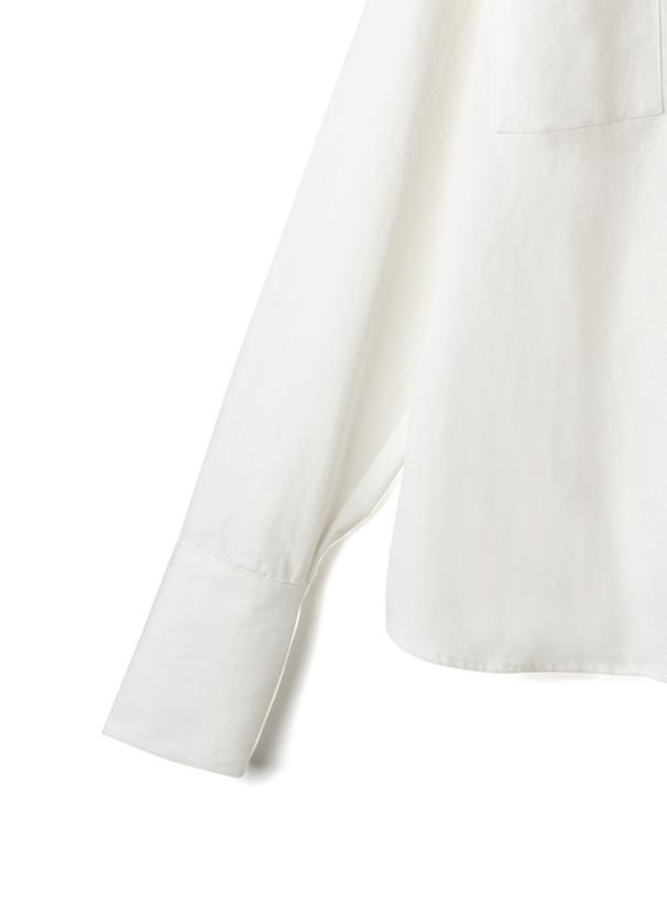 アシンメトリーショルダーカットレイヤードシャツ
