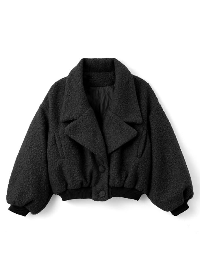 ボアテーラードジャケット