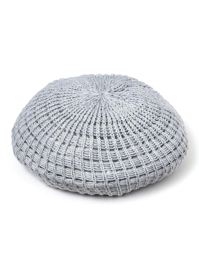 サマーニットベレー帽