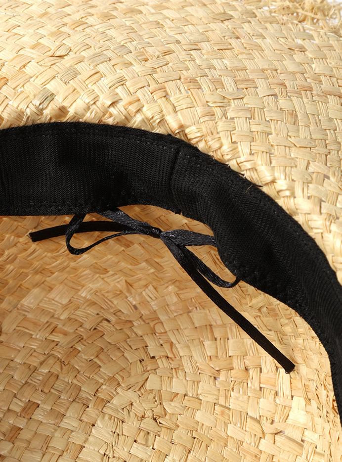 ロゴフリンジカンカン帽