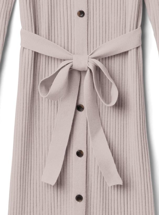 白石麻衣 フロントボタンマーメイドニットワンピース