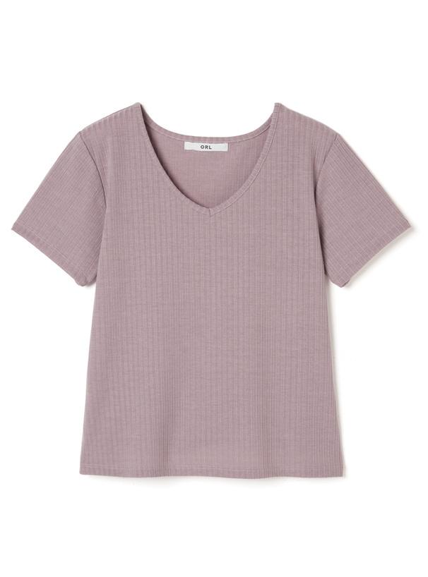 テレコベーシックVネックTシャツ