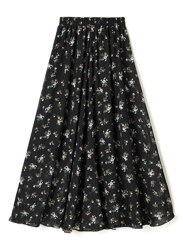 フラワーフレアスカート