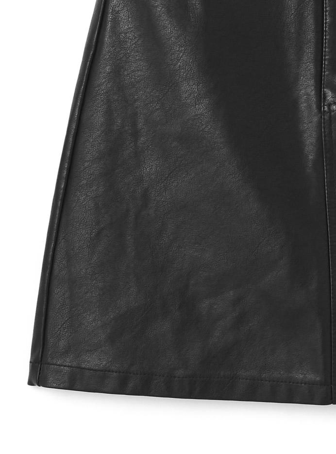 インパン付きレザーミニスカート