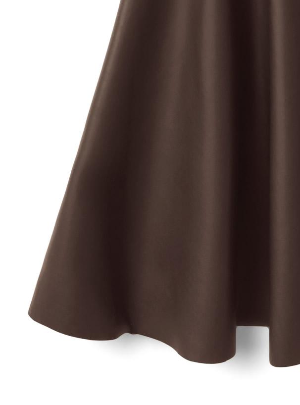 レザーパイピングマーメイドフレアスカート