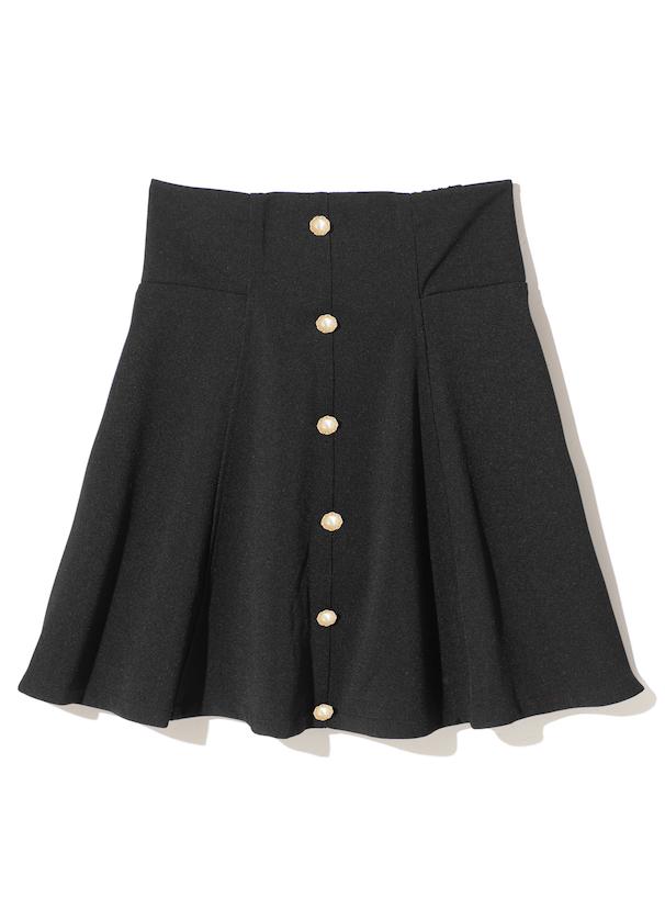 パールボタンフレアスカート