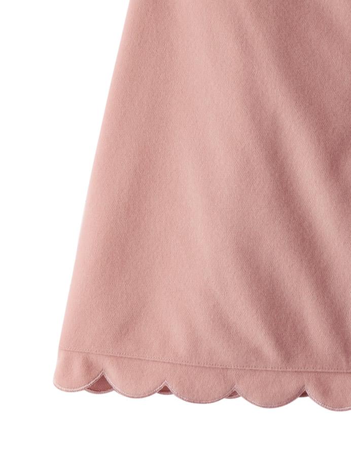 フェイクウールスカラップヘムスカート