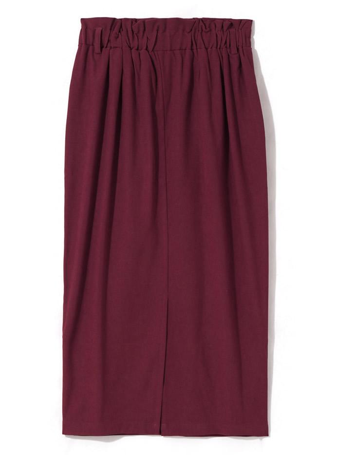 ベルト付きトレンチタイトスカート