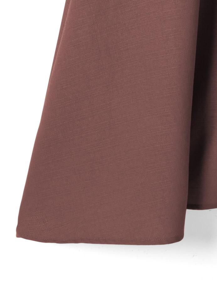 ウエストリボン付き前ボタンフレアスカート