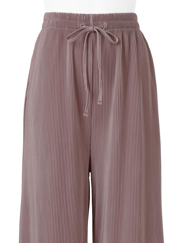 裾メロウカットプリーツフレアパンツ