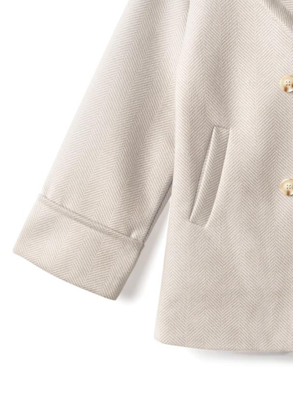ヘリンボーンテーラードジャケットXスカートセットアップ