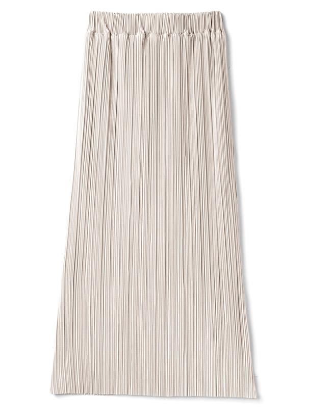 ランダムプリーツカットロングスカート