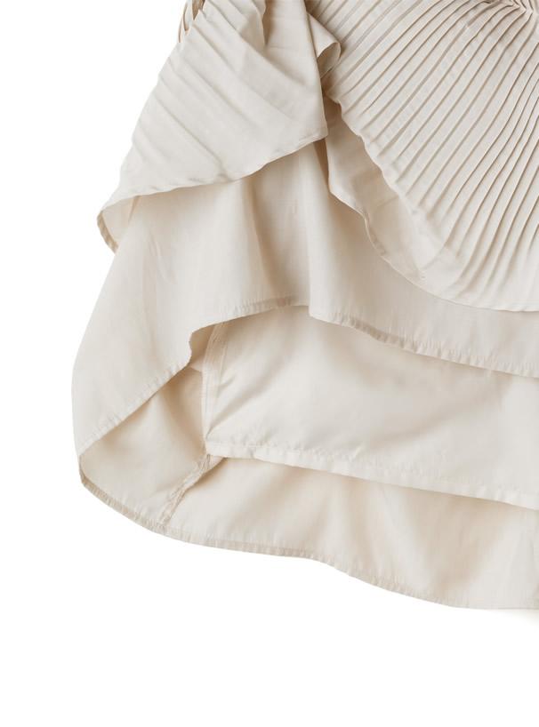 白石麻衣 リボンベルト付きティアードフリルワンピース