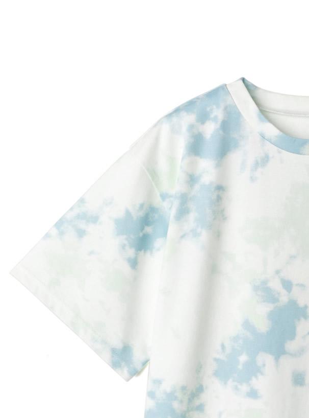 タイダイ柄プリントTシャツ