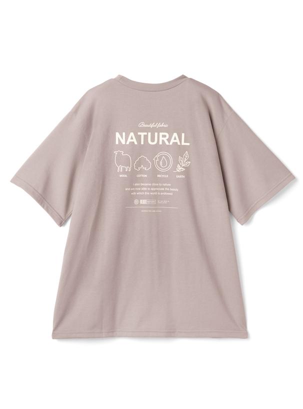 バックプリントデザインロゴTシャツ